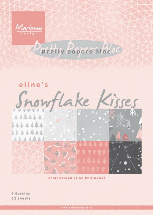 Pretty papers bloc: Eline's Snowflake Kisses