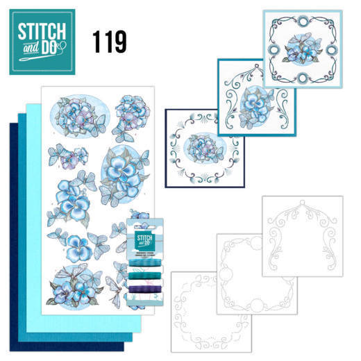 Stitch and Do 119 - Blue Butterflies