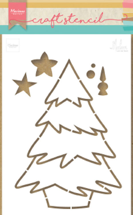 Craft stencil: kerstboom