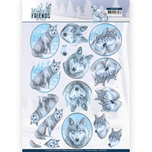 3D Knipvel - Amy Design - Winter Friends - Winter Wolves