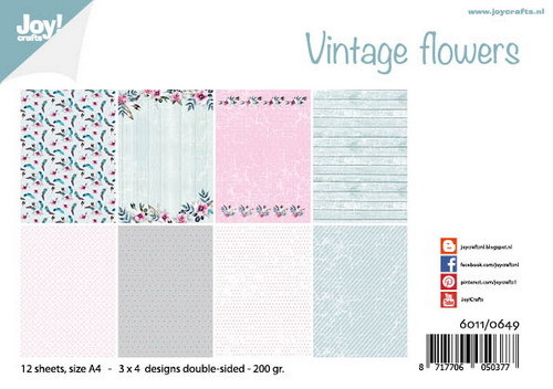 Joy Crafts! papierblok Vintage Flowers
