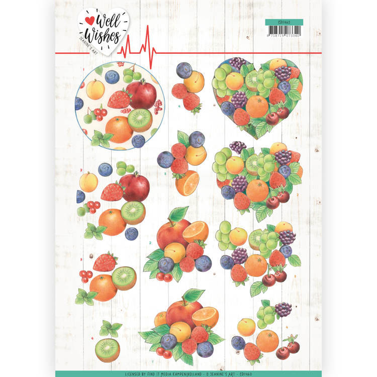 3D Cutting sheet - Jeanine's Art - Well Wishes - Fruits