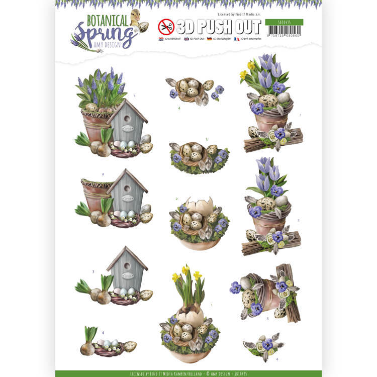 3D Pushout - Amy Design - Botanical Spring - Spring Arrangement