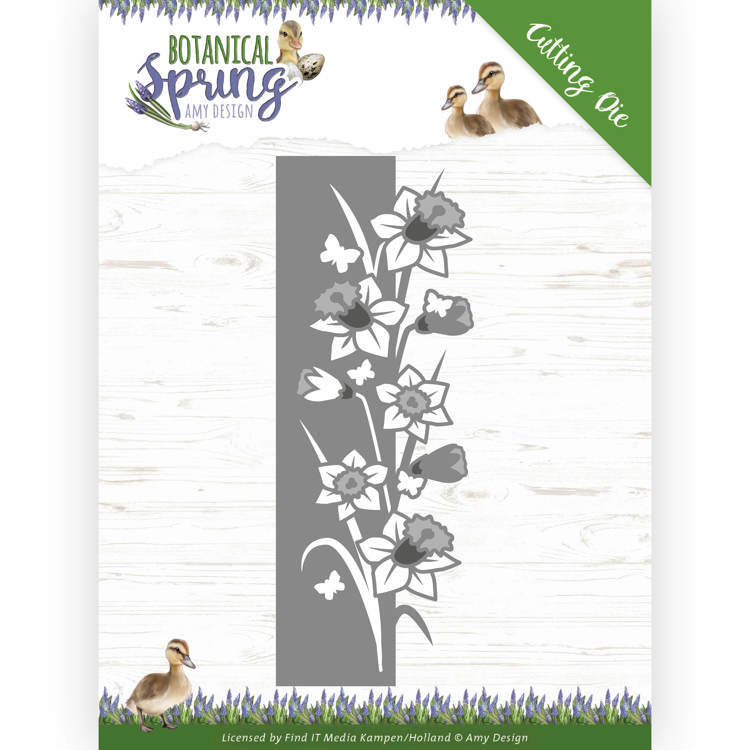 Dies - Amy Design - Botanical Spring - Daffodil Border