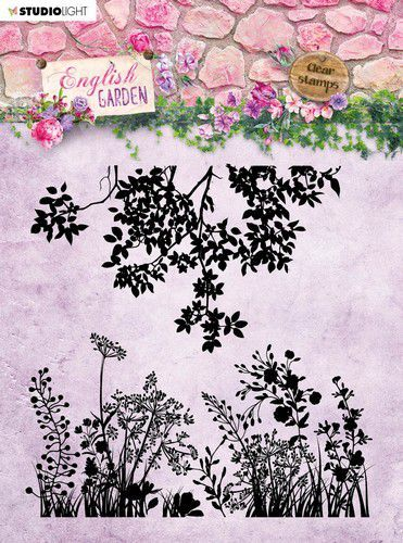 English Garden clearstamp