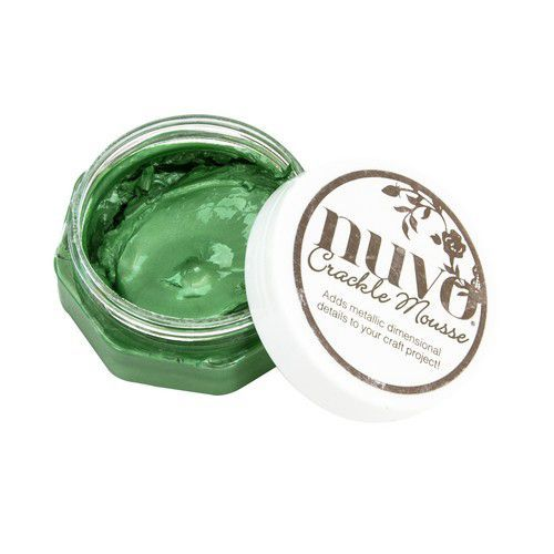 NUVO Crackle Mousse: Chameleon Green