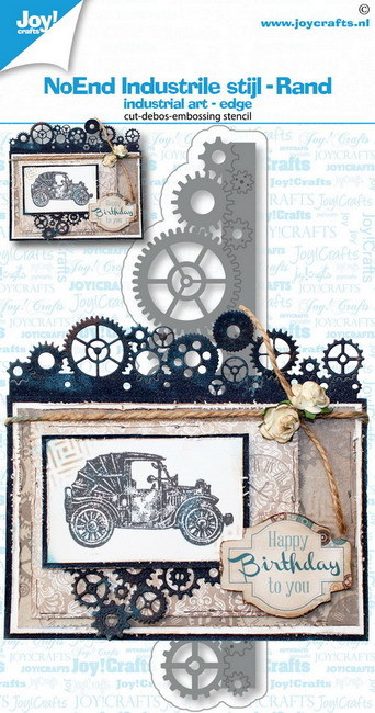 Joy Crafts! industriele stijl rand no end