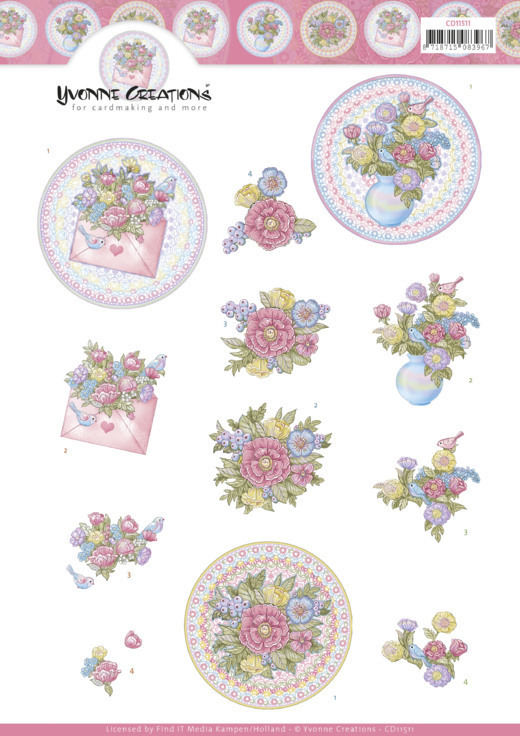 3D Cutting Sheet - Yvonne Creations - Mothers Day Flowers