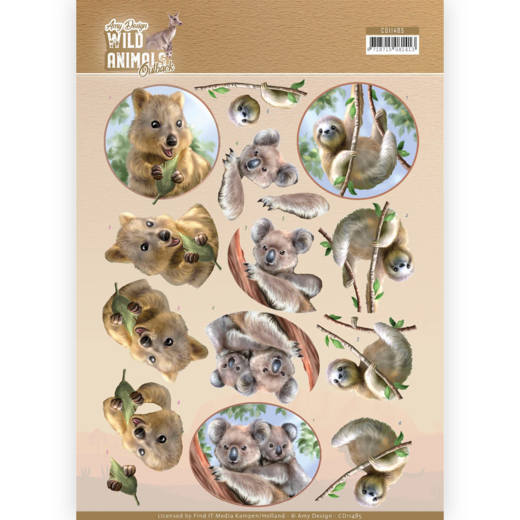 3D Cutting sheet - Amy Design - Wild Animals Outback - Koala