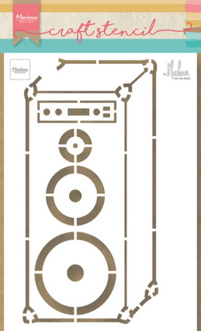 Craft Stencil: Music speaker