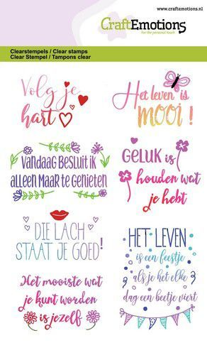 CraftEmotions clearstamps A6 - Quotes - volg je hart, ... (NL) GB (05-20)