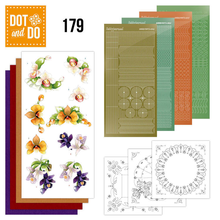Dot and Do 179 - Precious Marieke - Delicate Flowers - Orchid