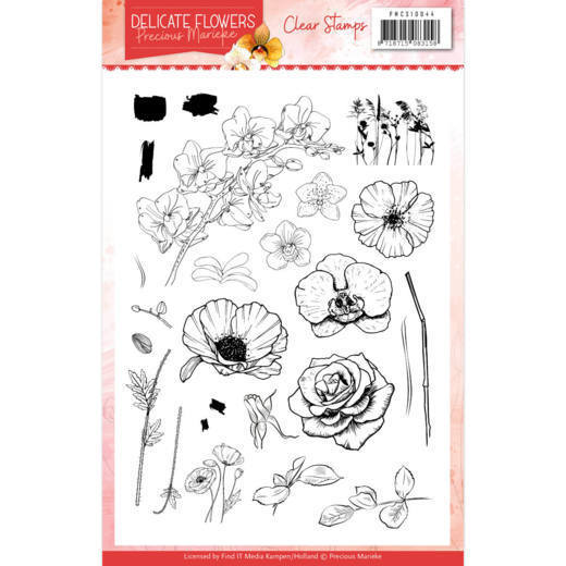 Clear Stamps - Precious Marieke Delicate Flowers