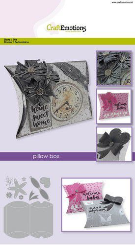 CraftEmotions Die - pillow box Card A5 box 11x8,5cm