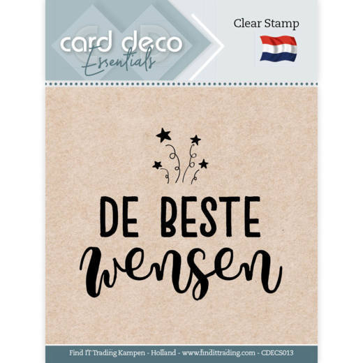 Card Deco Essentials - Clear Stamps - De Beste Wensen