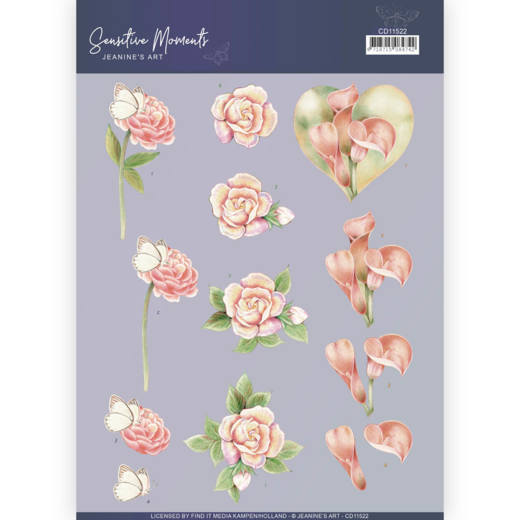 3D Cutting Sheet - Jeanine's Art - Sensitive Moments - Calla Lily