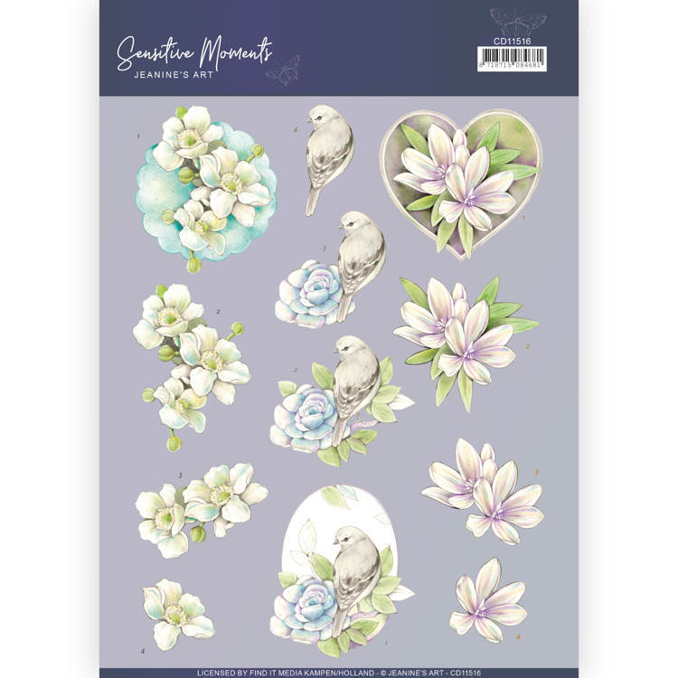 3D Cutting Sheet - Jeanine's Art - Sensitive Moments - Rose