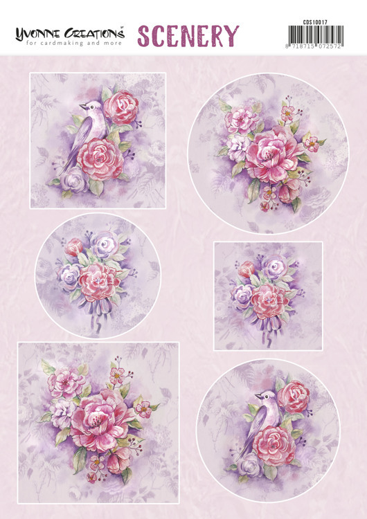 Push Out Scenery - Yvonne Creations - Pink Flowers