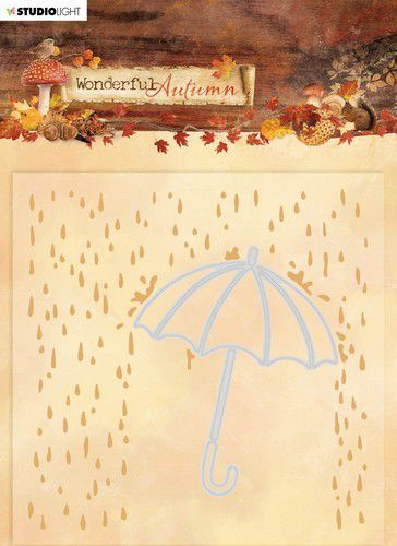 Studio Light Embossing Folder With Die Cut Wonderful Autumn nr.06