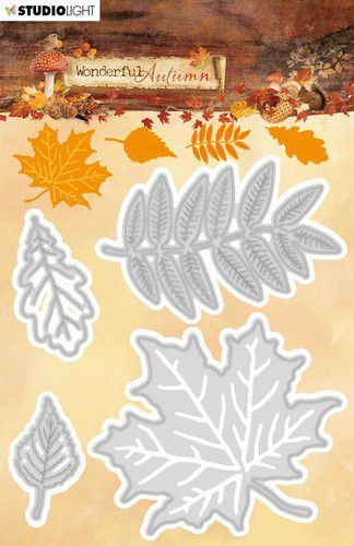 Studio Light Embossing Die 63x152mm Wonderful Autumn nr.308