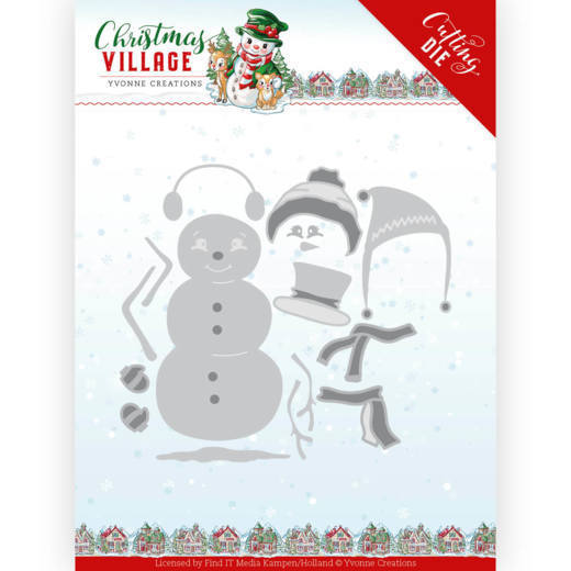 Dies - Yvonne Creations - Christmas Village - Build Up Snowman