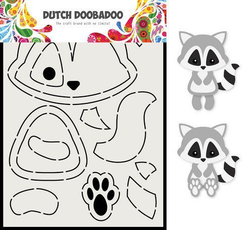 Dutch Doobadoo Card Art A5 Wasbeer 470.713.817