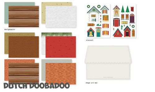 Dutch Doobadoo Crafty kit Christmas Scene 472.100.006