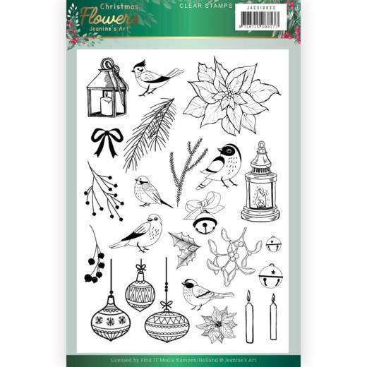 Clear Stamps - Jeanines Art  Christmas Flowers