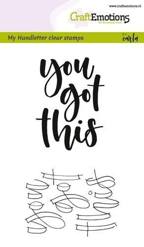 Handletter- You got this