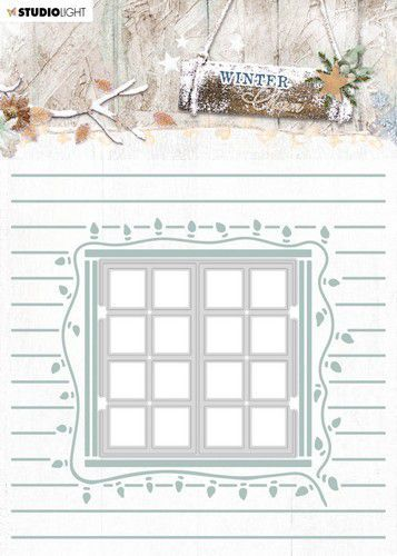 Studio Light Embossing Folder With Die Cut, Winter Charm nr. 08 EMBWC08