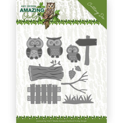 Dies - Amy Design - Amazing Owls - Owl Family