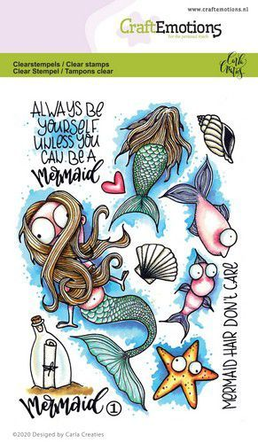 CraftEmotions clearstamps A6 - Mermaid 1 Carla Creaties (03-20)
