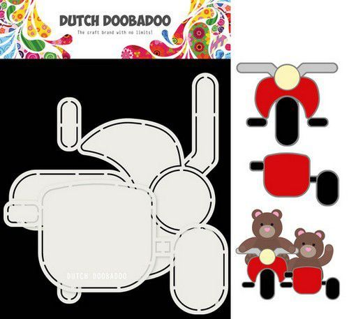 Dutch Doobadoo Card Art Motor en zijspan 2 set A5 470.713.813