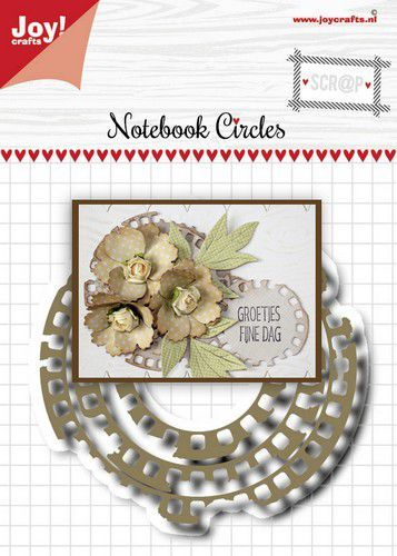 Joy! Crafts Snijstansmal - Noor - Scrap - Grungy cirkelmal 6002/1515 47,5x48,5 - 80x80 mm