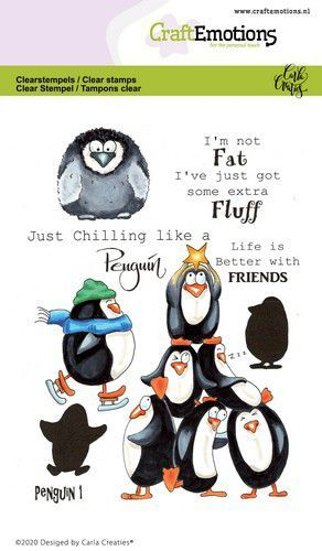 CraftEmotions clearstamps A6 - Penguin 1 Carla Creaties
