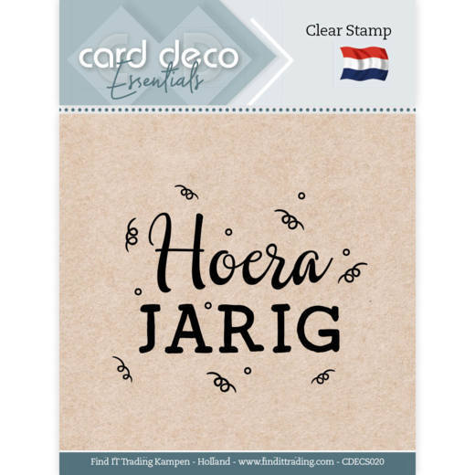 Card Deco Essentials - Clear Stamps - Hoera Jarig