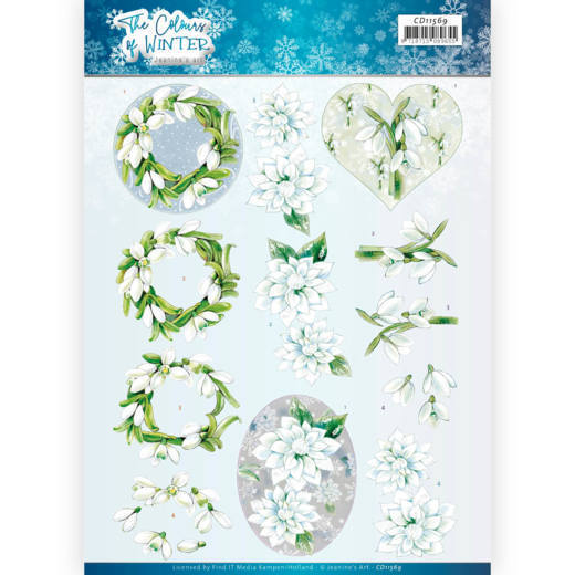 3D Cutting Sheet - Jeanine's Art - The colours of winter - White winter flowers