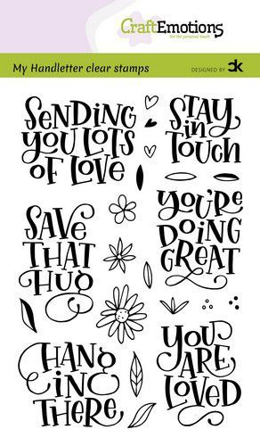 CraftEmotions clearstamps A6 - handletter - Sending you lots of love Carla Kamphuis