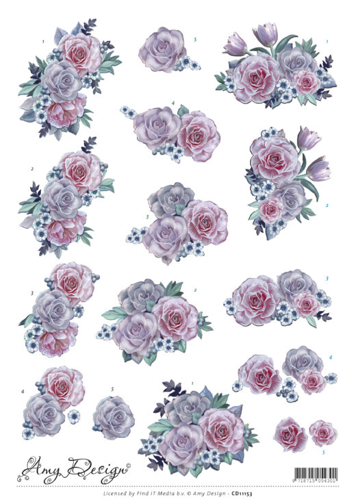 Amy Design: Purple Flowers