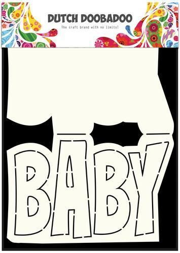 Dutch Doobadoo Dutch Card Art tekst Baby a5 470.713.647