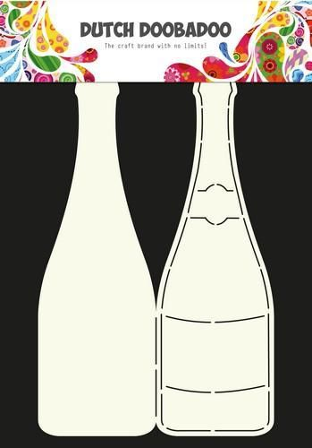 Dutch Doobadoo Dutch Card Art Stencil Champagnefles  A4 470.713.602