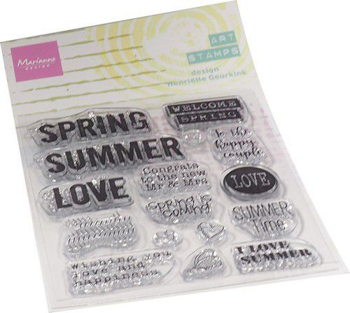 Marianne D Clear Stamps Art stamps - Summertime (ENG) MM1639 95x160mm