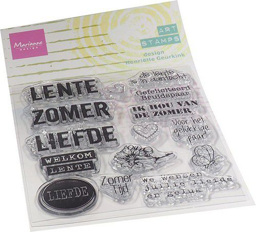 Marianne D Clear Stamps Art stamps - zomertijd (NL) MM1638 95x160mm
