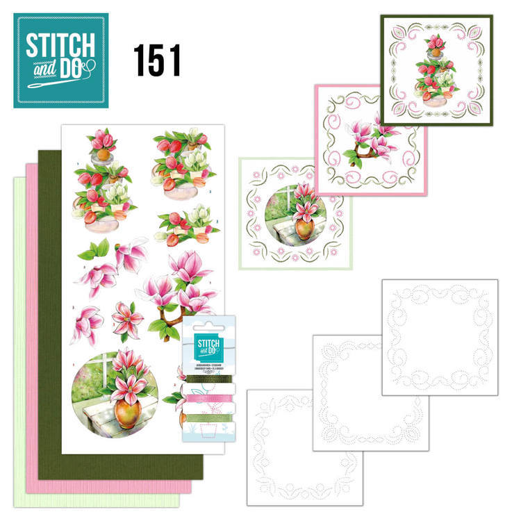 Stitch and Do 151 - Jeanine's Art - Welcome Spring