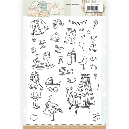 Clear Stamps - Yvonne Creations - Newborn