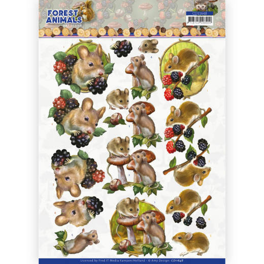 3D cutting sheet - Amy Design  Forest Animals - Mouse