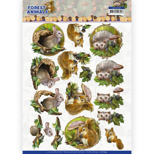 3D cutting sheet - Amy Design  Forest Animals - Rabbit