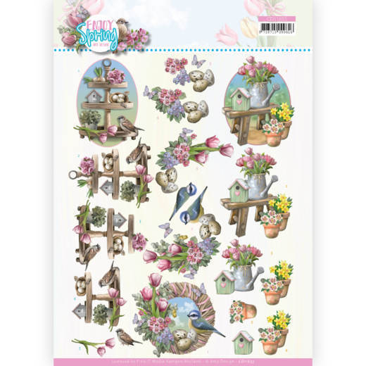 3D Cutting Sheet - Amy Design - Enjoy Spring - Spring Decorations