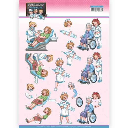 3D Cutting Sheet - Yvonne Creations - Bubbly Girls Professions - Nurse