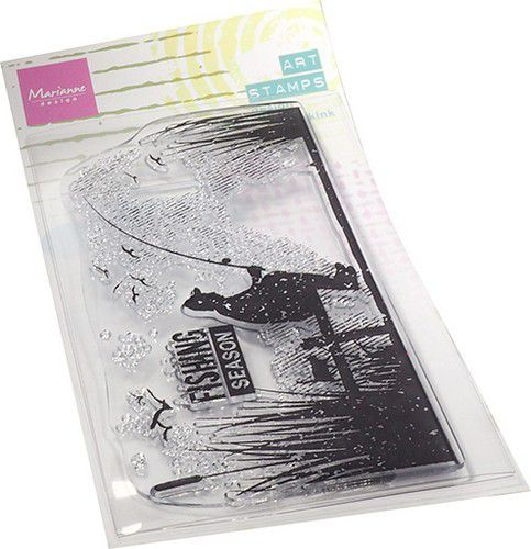 Marianne D Clear Stamps Art stamps - Vissen MM1646 63x140mm